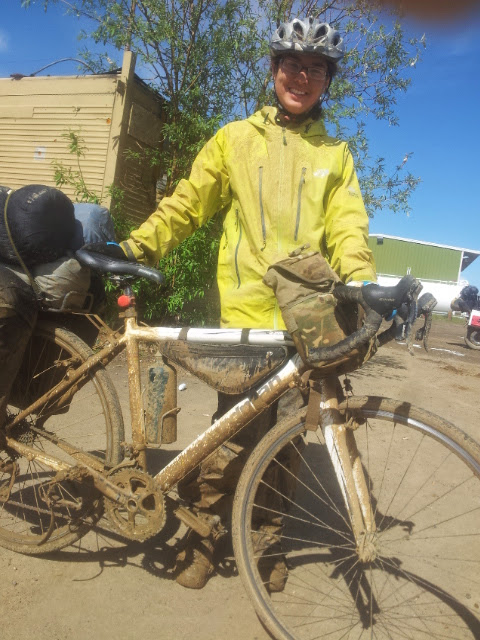 Muddy cycling in Alaska 2